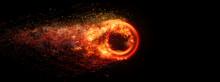 抽象的な火の輪