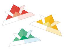折り紙の兜のベクターイラスト 端午の節句 こどもの日