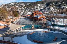 Aerial Hot Springs Glenwood Springs Are The Largest Rocky Mountains In The World