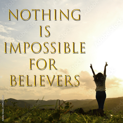 Carta da parati nothing is impossible for believers. best motivational poster .