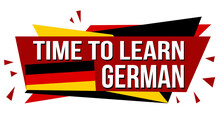 Time To Learn German Banner Design