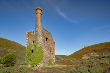 The Engine House At Wheal Ellen Mine, Near St Agnes, Cornwall, England, UK.