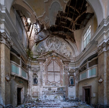 Wing Of The Church Of The Hospital Of L'Aquila In Abruzzo Collapsed After The Earthquake