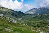 Fototapeta Na sufit - mountains and lake, photo as a background, photo as a background , in pasubio mountains, dolomiti, alps, thiene schio vicenza, north italy