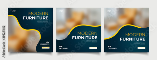 Obraz Furniture social media post templates  - fototapety do salonu