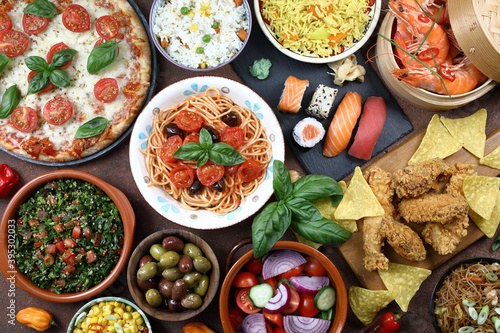 Fotografia cibo internazionale o dieta mediterranea
