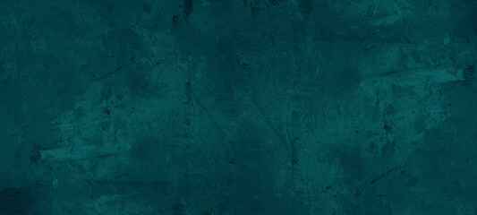 Dark abstract grunge blue ocean green turquoise stone concrete paper texture background banner
