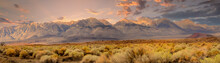 Panorama Of The Southern Tip Of The Sierra Nevada Mountains Located In Central California
