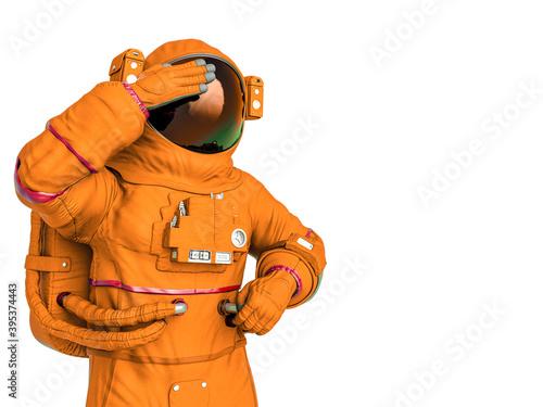 Billede på lærred astronaut thinking with copy space