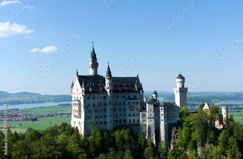 Tela Neuschwanstein, castello in Baviera, Germania.