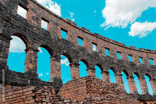ancient roman amphitheater in pula country