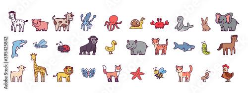 Fototapeta premium Set of animals image - Vector illustration design