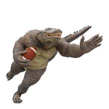 Crocodile Man Is Playing American Football