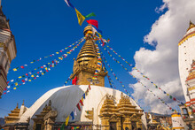 Swayambhunath, Aka Monkey Temple, In Kathmandu, Nepal