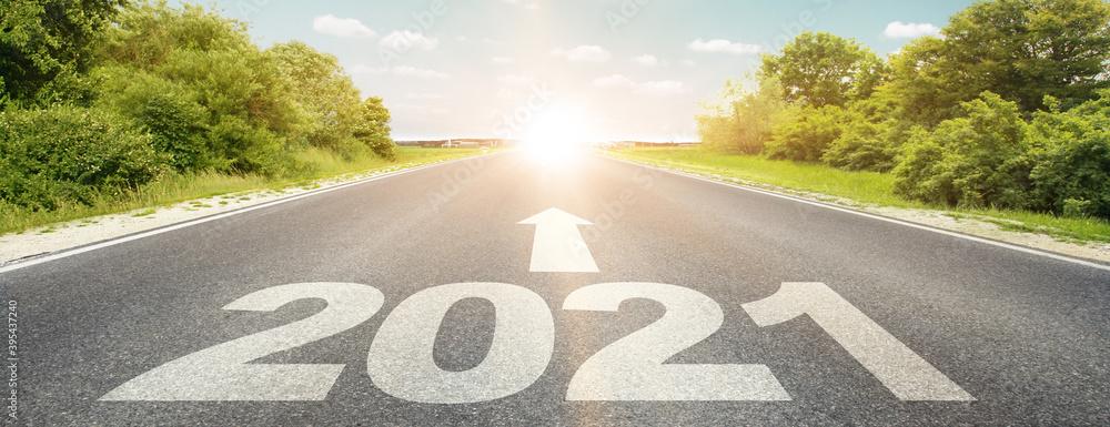 Fototapeta Happy New Year Background. Start in 2021