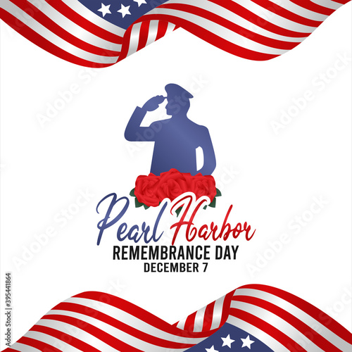 Fotografia, Obraz vector graphic of pearl harbor remembrance day good for pearl harbor remembrance day celebration