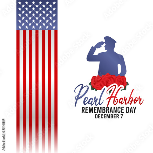 Obraz na plátně vector graphic of pearl harbor remembrance day good for pearl harbor remembrance day celebration