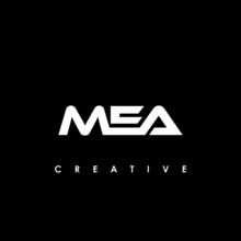 MEA Letter Initial Logo Design Template Vector Illustration