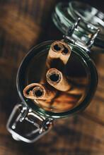 Cinnamon Sticks In Glas Jar
