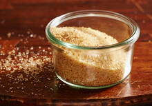 Homemade Vanilla Sugar With Tonka Beans In A Mason Jar