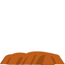 Uluru,  Ayers Rock, Northern Territory, Australia Fully Editable Vector Icons