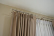 Beautiful curtains with ring-top rail, Curtain interior decoration in living room