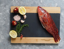 Red Fish, Ballan Wrasse Raw Fresh Ready To Be Cooked