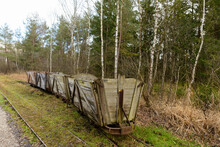 Abandoned Peat Train In A Moor...