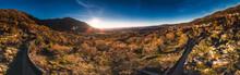 Panoramic View Of The Sunrise ...