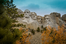A Classic View Of Mount Rushmore.