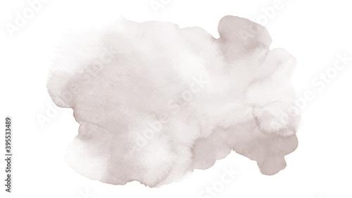 Fotografija Light brown cream sepia background of stain splash watercolor