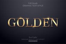 Golden Elegant Glow Editable Text Effect Font Style