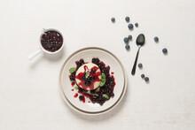 Dampfnudel (steamed, Sweet Yeast Dumpling) With Blueberries