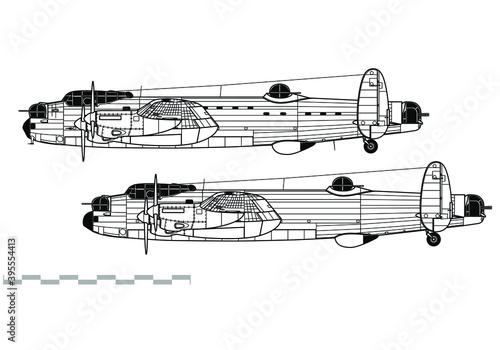 Avro Lancaster B Fototapeta
