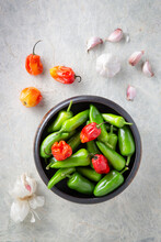 Various Red And Green Chilli Peppers