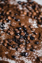 Aromatic Mixed Coffee Beans Background