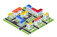 City Architecture - Modern Vector Colorful Isometric Illustration
