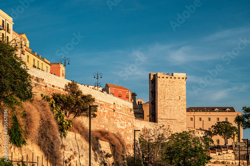 The sunset at the bastions of the city of  Cagliari, Sardinia, Italy Canvas