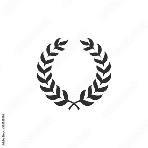Obraz na plátně Circle laurel wreath isolated on white background