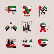 Uae National Day Icon Collecti...