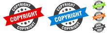 Copyright Stamp. Copyright Round Ribbon Sticker. Tag