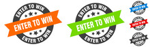 Enter To Win Stamp. Enter To Win Round Ribbon Sticker. Tag
