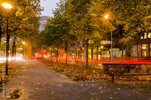 Foto Rotterdam, The Netherlands, October 28, 2020: the pedestrian strip in the middle