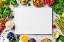 Vegetables, Fruits, Lentils And Almonds