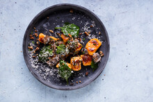 Pumpkin Gnocchi With Spinach And Parmesan