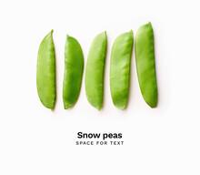 Row Of Sugar Snap Peas