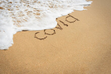 Inscription On The Sand Covid,...
