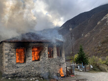 Nagorno-Karabakh: Ethnic Armenians Set Fire To Their Homes Rather Than Hand Them To Azerbaijan