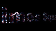 Times Square Colorful Led Text Dolly Shot