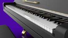 Grand Piano Under Purple Backg...